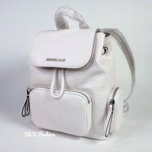 Michael Kors Abbey Medium Perforated Backpack Bag